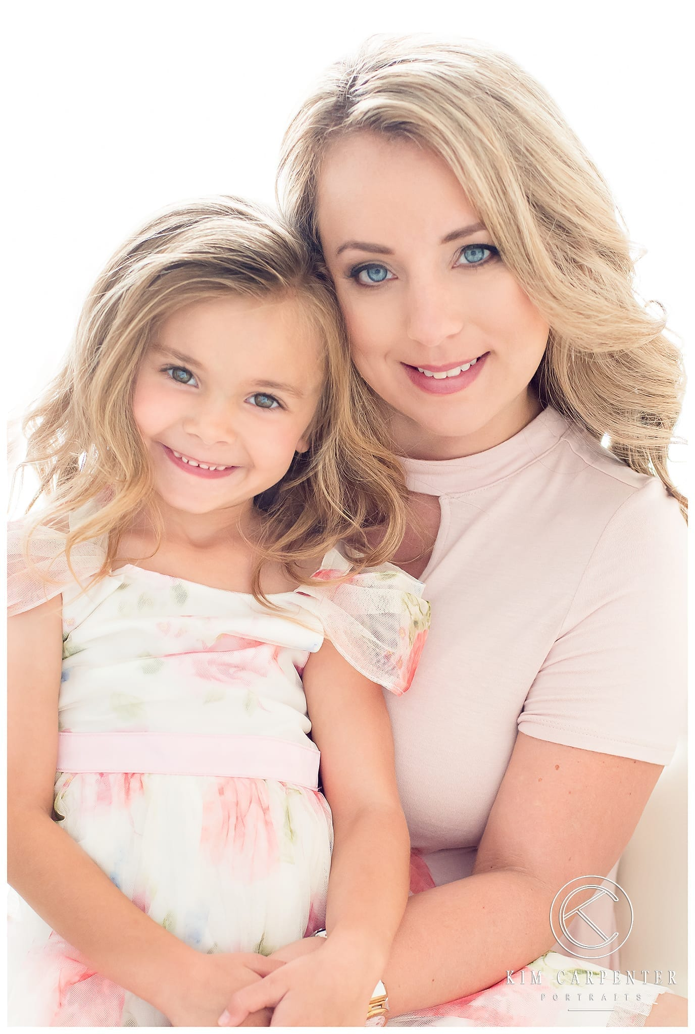Portrait taken by Lakeland photographer of mother and daughter.