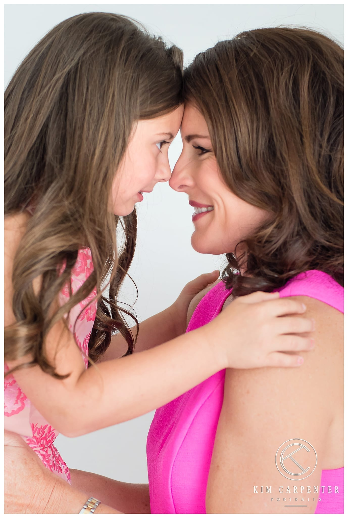 Lakeland Photographer - Portrait of a Mother and Daughter looking at each other